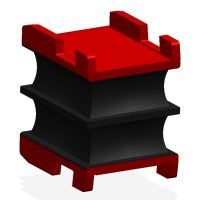 Vulcanite Gearbox & Motor Mounts