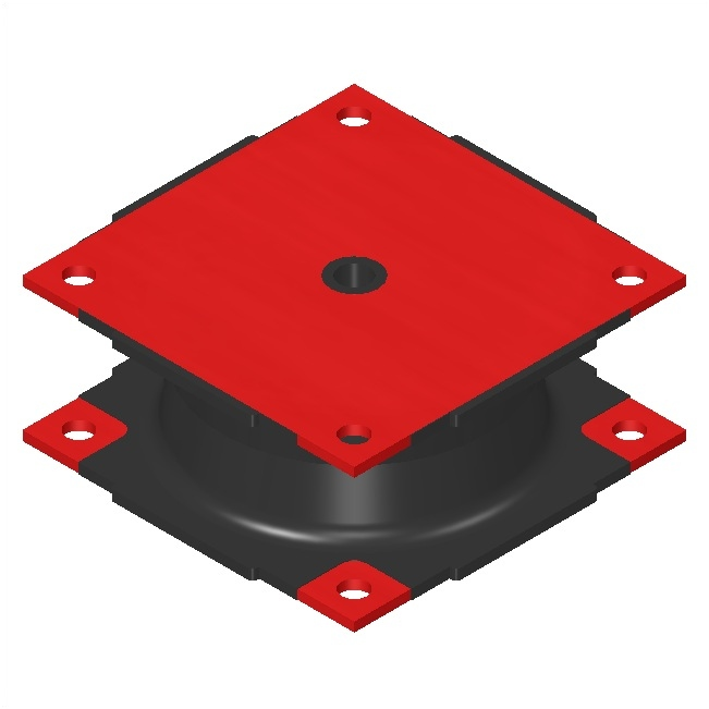 Vulcanite Square Isolators