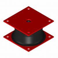 Square Pile Driving Isolator