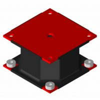 Octagonal Elastomer with Nuts
